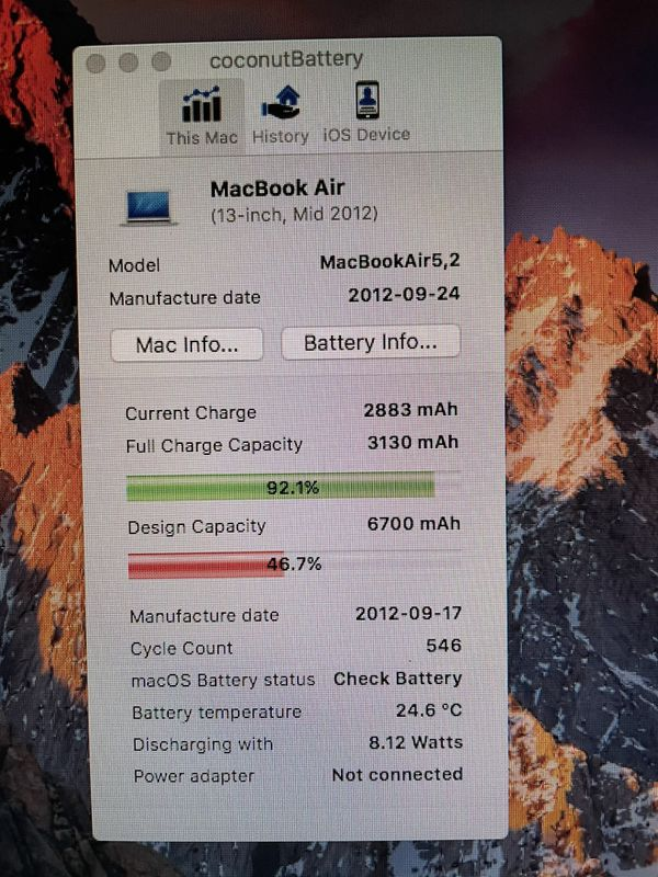 Apple MacBook Air Mid-2012 Core I-5 8gb 256gb