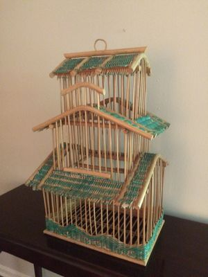26 inch tall well crafted wooden birdcage for Sale in Indianapolis, IN