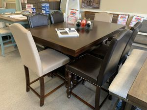 *NO CREDIT NEEDED* AWESOME ESPRESSO AND TAUPE DINING SET!!! EVERYTHING INCLUDED!!!! EASY FINANCE!!!! for Sale in Raleigh, NC