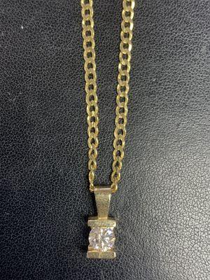 14kt Gold Diamond Necklace for Sale in Las Vegas, NV