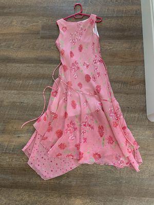 Girls long flower dress size 10 for Sale in Anaheim, CA