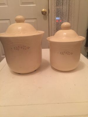 """Vintage 1980's Pfaltzgraff """"Remembrance"""" Canisters for Sale in Aberdeen, MD"""