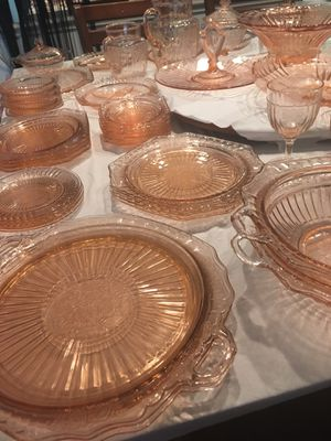 Anchor Hocking, Mayfair Pink depression glass collection for Sale in Denver, CO