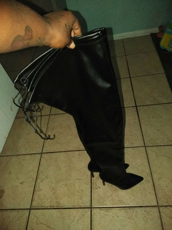 Thigh high boots worn once