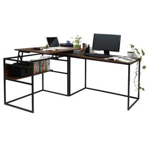 New L-Shaped Corner Desk Computer PC Laptop Workstation Lifting Bracket Function for Sale in Walnut, CA