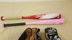 Kids baseball bats and gloves. for Sale in Dublin, OH