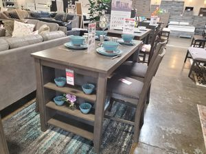 5 PC Counter Height Dining Set, Grey for Sale in Huntington Beach, CA