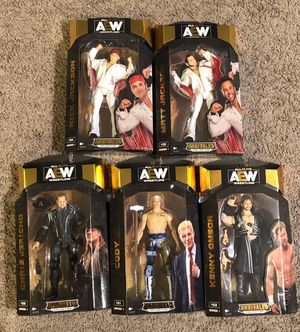 AEW unrivaled action figures Chris Jericho Young Bucks Cody Kenny Omega for Sale in University Place, WA