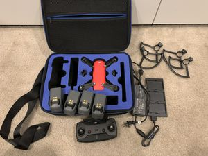 DJI Spark drone Red fully loaded like new condition for Sale in Chino, CA