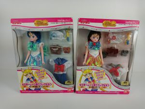 Vintage NEW Bandai Sailor Moon World Sailor Mercury & Sailor Mars RARE Dolls for Sale in Austin, TX