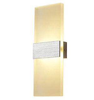New LED Modern Wall Sconce Lamps Wall Light Indoor Acrylic Lighting Fixture (2 available) for Sale in Spring, TX