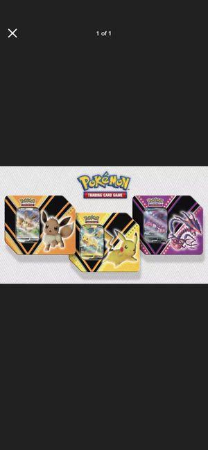 Pokemon TCG V Power Tins Set of 3 - Pikachu V, Eevee V & Eternatus V (SEALED/NEW) for Sale in Manteca, CA