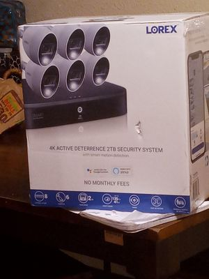 Brandnew lorex security system 800buks in the store im askin for only 4 for Sale in Oakland, CA
