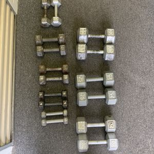 Dumbbell pairs.... (3,5,8,10,15,20,25,30lbs) $1.50 per lb for Sale in Westerville, OH