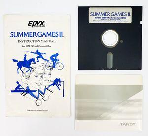 "Epyx Summer Games II - 5.25"" Floppy Disk, Manual etc. (1986) - IBM PC Tandy for Sale in Trenton, NJ"