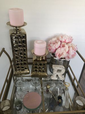 Gold candle holders for Sale in Silver Spring, MD