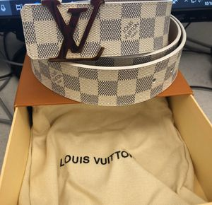 Louis Vuitton Damier Graphite Belt (White) ON SALE! NEED SOLD ASAP!! BEST DEALS!!!!!! for Sale in Dallas, TX