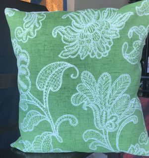 Green Accent Pillow - Down & Feather for Sale in Renton, WA