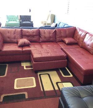 Red Sectional & Ottoman for Sale in Baltimore, MD