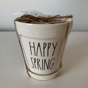 Rae Dunn HAPPY SPRING chick flower pot for Sale in Thornton, CO