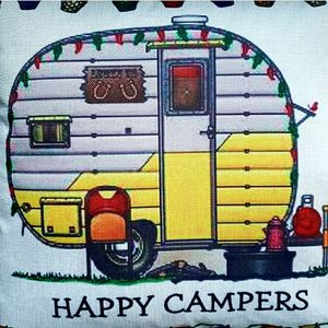Accent pillow cover ,campers edition for Sale in Murrieta, CA