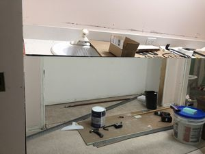91 3/4 inch by 36 inch frameless bathroom mirror. Vanity sold separately. for Sale in Westlake, OH