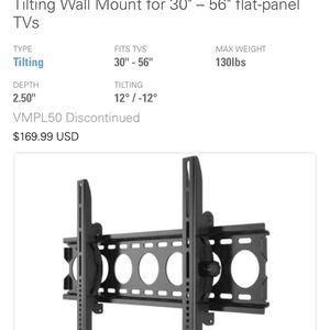 """The VisionMount VMPL50 is a tilting wall mount for 30"""" – 56"""" flat-panel TVs for Sale in HUNTINGTN BCH, CA"""