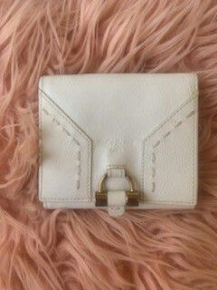 YSL white leather wallet for Sale in Las Vegas, NV