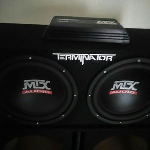 MTX 12-in Subs With Amplifier for Sale in San Leandro, CA