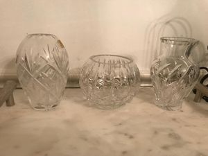 Set of 3 crystal vases for Sale in Great Falls, VA