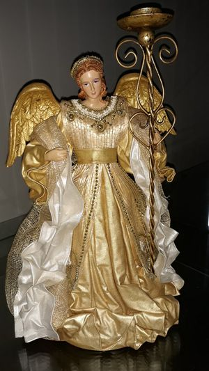 Christmas Angel Figurine Candle Holder for Sale in Delray Beach, FL