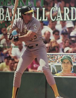 Beckett November 1988 issue # 44, Front Cover Jose Canseco, Back Cover Greg Jefferies for Sale in Boston,  MA