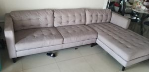 L COUCH • SECTIONAL ☆☆☆☆ MUST GO !!!!! for Sale in Hollywood, FL