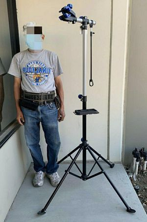 New in box height adjustable 41 to 75 inch bicycle bike repair stand cleaning maintenance 66 lbs capacity with stabilizer for Sale in South El Monte, CA