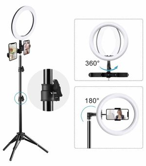 "10"" selfie ring light with tripod for Sale in Irving, TX"