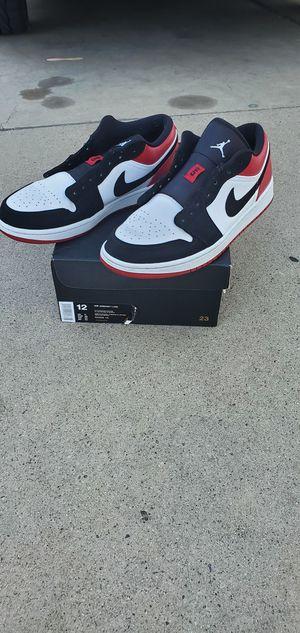 air jordan 1 low black toe for Sale in Fresno, CA