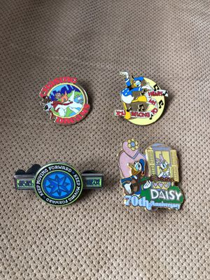 Disney pins-lot of 4 (Donald, Daisy) for Sale in Egg Harbor City, NJ
