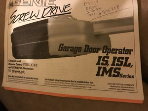 Genie garage door opener for Sale in Olmsted Falls, OH