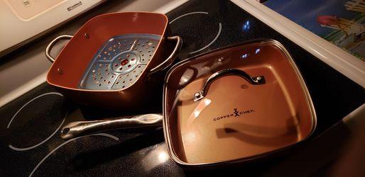 COPPER👨🍳CHEF 5-Piece Copper Cookware for Sale in Lynchburg,  VA