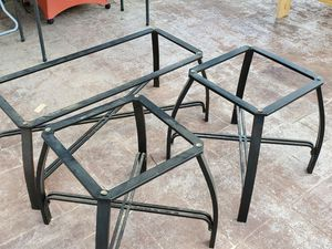Coffee and end tables with glass tops for Sale in Georgetown, TX