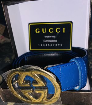 Gucci belt blue for Sale in Houston, TX