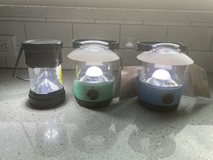 3 NEW Hurricane Camping boating RV Patio outdoor light hanger LED Bright Lantern 70 Hour Run Time $34 value $11 worth of 12 AA BATTERIES INCLUDED for Sale in Oakland Park, FL