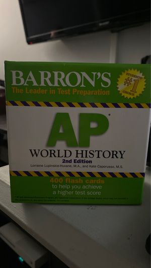 WHAP Test Prep Flashcards for Sale in Temple City, CA