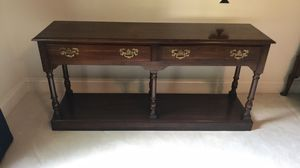 Beautiful Antique Cherry Wood Sofa Table Console Desk Solid for Sale in Chesterfield, VA