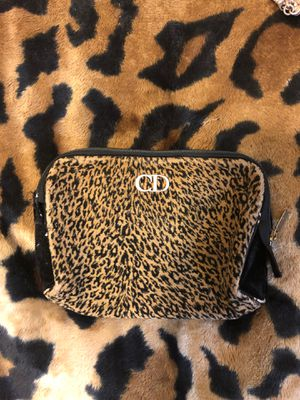 Extremely Well Used Christian Dior Cheetah or Jaguar 🐆 Print Makeup 💄 Case. for Sale in Bristol, PA