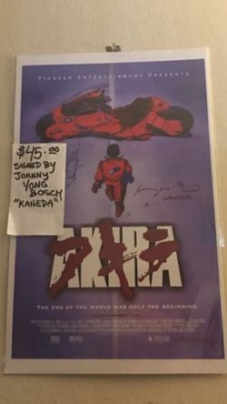 SacAnime Akira Signed Poster Voice Actor for Sale in El Sobrante,  CA
