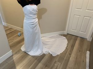 Unaltered Wedding Dress with Train for Sale in Los Angeles, CA