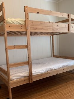 Wooden Bunk Bed with Mattress Included for Sale in San Francisco,  CA