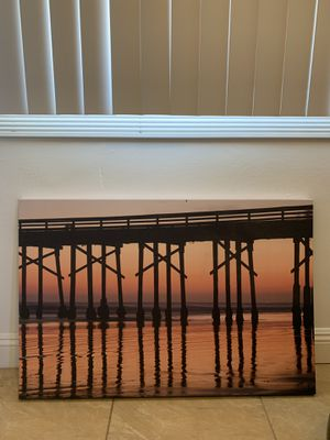 Canvas Painting - Huntington Beach pier for Sale in Huntington Beach, CA