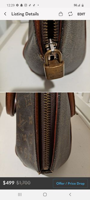 Louis Vuitton eclipse bowling style purse has lock missing key vintage bag for Sale in Los Angeles, CA